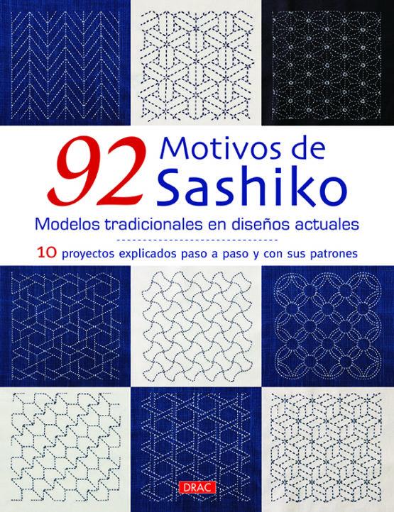 Libro 92 motivos de sashiko; modelos tradicionales en diseños actuales (portada)