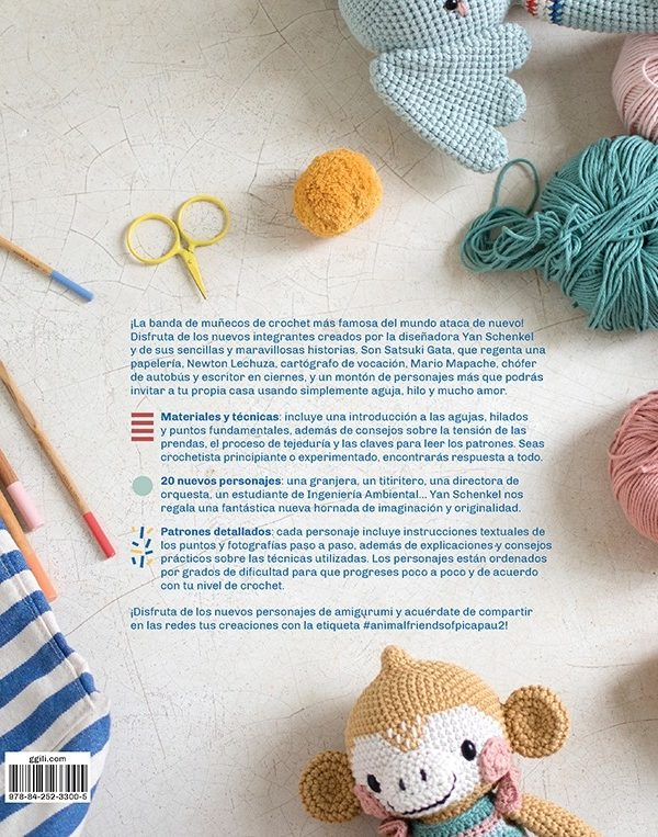 Libro de crochet La Banda de Pica Pau 2 (contraportada)