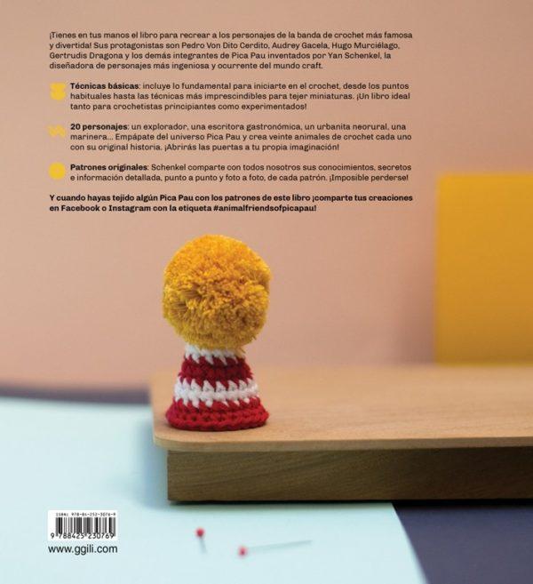Libro de crochet La Banda de Pica Pau (contraportada)