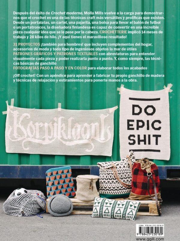 Libro Crochetterie proyectos contemporáneos para mentes creativas (contraportada)