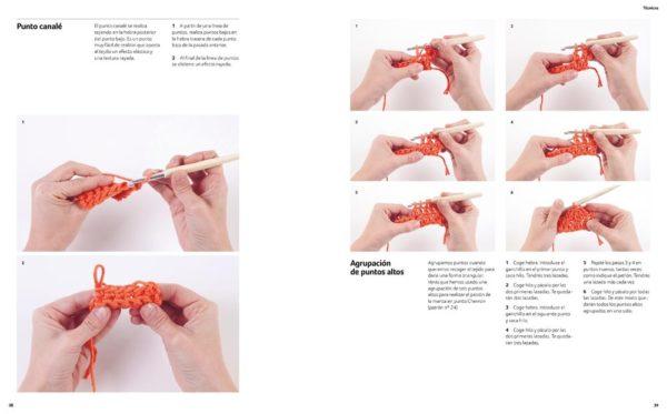 Libro de ganchillo Ganchitos 20 proyectos (fotos paso a paso)