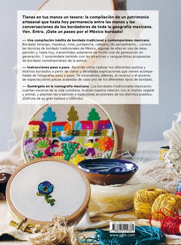 Libro Mexico Bordado. De la tradición al punto contemporáneo (contraportada)