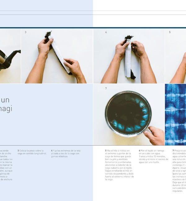Libro de Shibori Arte de teñir la ropa (paso a paso)