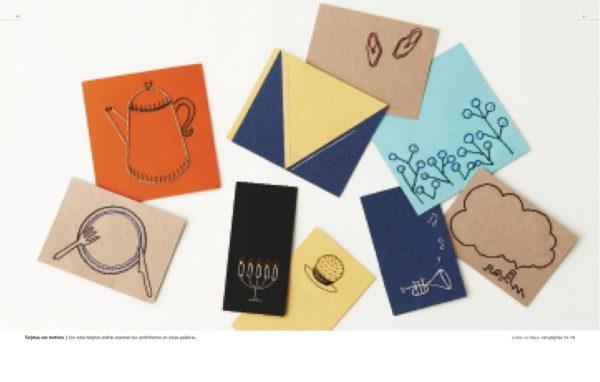 Libro Bordar en papel (ejemplos)