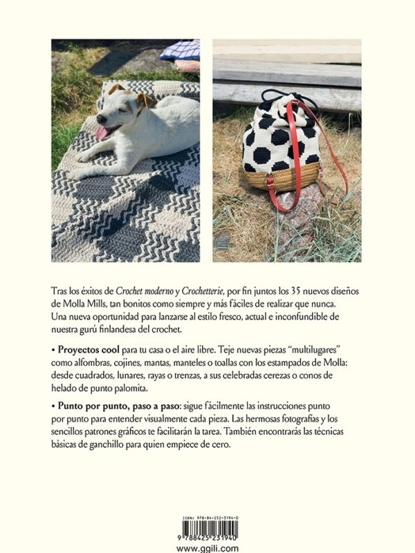 Libro de Crochet in and out 35 proyectos para casa y al aire libre (contraportada)