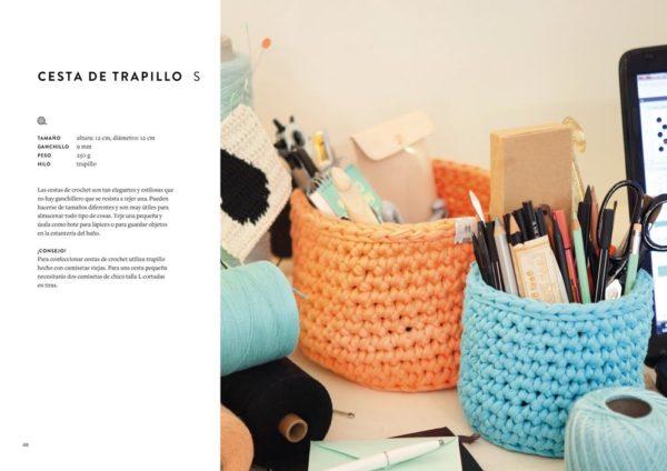 Libro de Crochet Moderno accesorios y proyectos para el hogar (ficha)