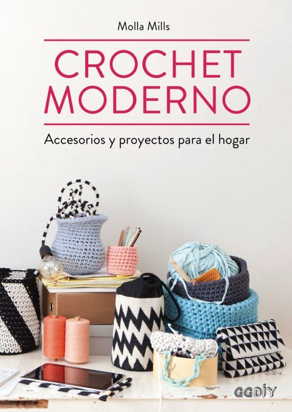Libro de Crochet Moderno accesorios y proyectos para el hogar (portada)