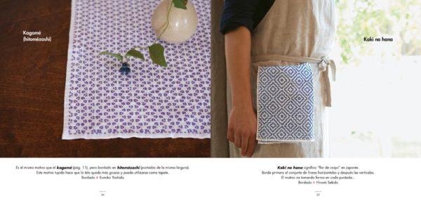 Libro descubre el Sashiko bordado japones (ejemplo)