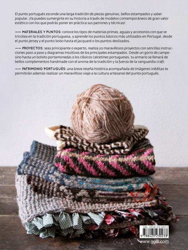 Libro Punto portugués 20 modelos contemporáneos de inspiración clásica (contraportada)