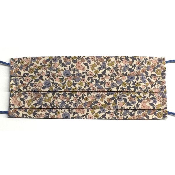 Mascarilla de algodón antibacteriano resistente al agua lavable de acordeón y estampada con flores