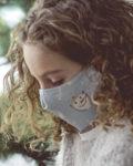 Panel para la confección de 13 mascarillas de tela hidrófuga antibacteriana reutilizables y lavables (ejemplo mujer)