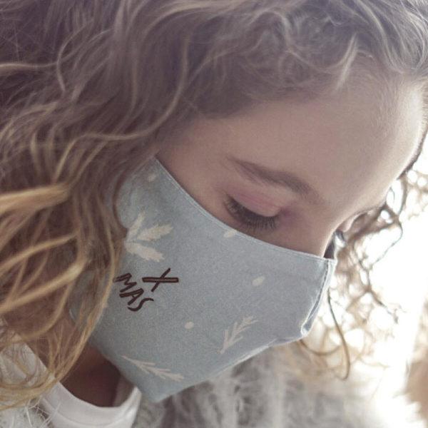 Panel para la confección de 13 mascarillas de tela hidrófuga antibacteriana reutilizables y lavables (ejemplo chica)