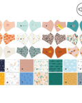 Panel para la confección de 13 mascarillas de tela hidrófuga antibacteriana reutilizables y lavables modelo Sonrisas