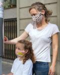 Panel para la confección de 13 mascarillas de tela hidrófuga antibacteriana reutilizables y lavables modelo Sonrisas (niña y mamá)