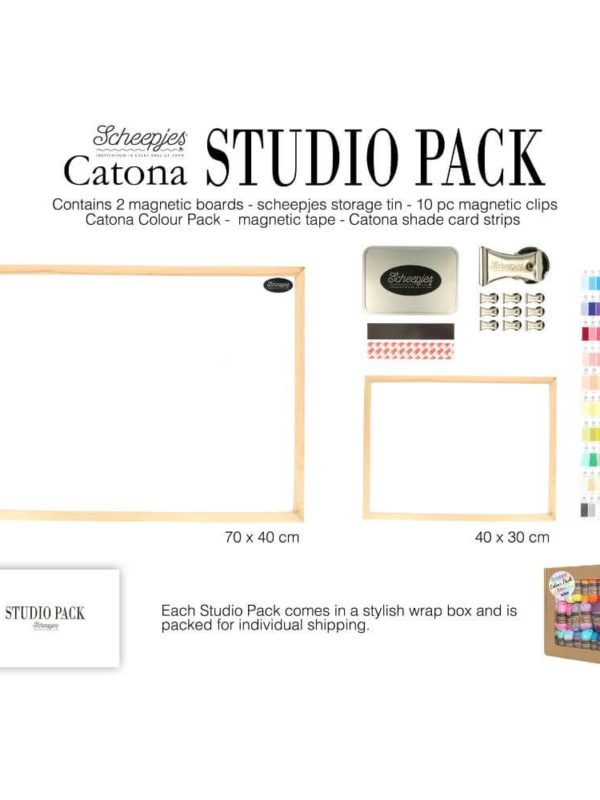 Studio Pack Catona Scheepjes de 109 ovillos de lana (contenido)