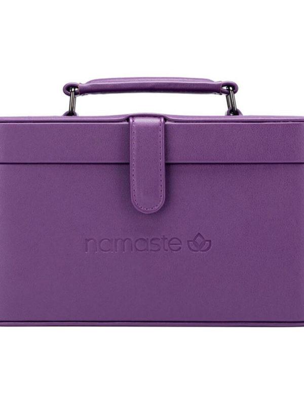 Maletín de costura Namaste Train de cuero vegano Violeta