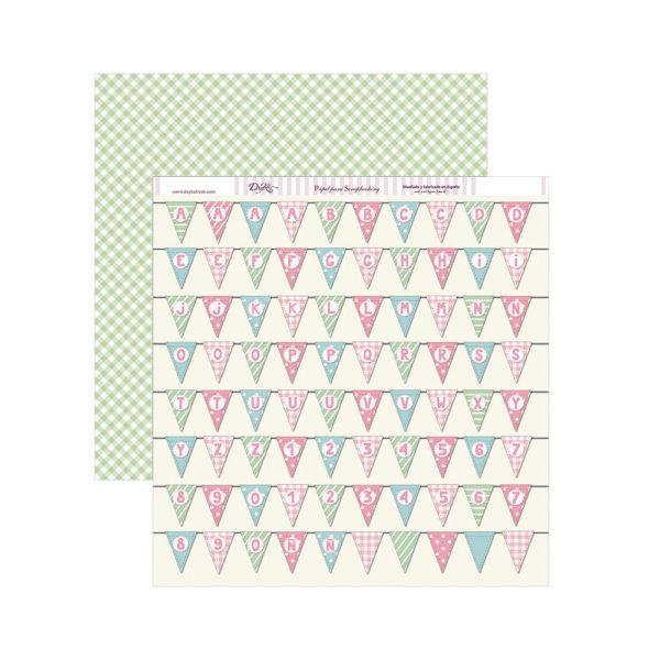 Set de papel scrapbooking especial nacimiento de tu bebé niña, de Dayka