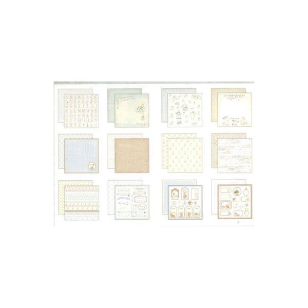 Set de papel scrapbooking especial nacimiento de tu bebé niño, de Dayka