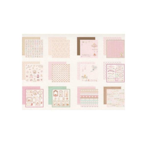 Set de papel scrapbooking especial nacimiento de tu niña, de Dayka