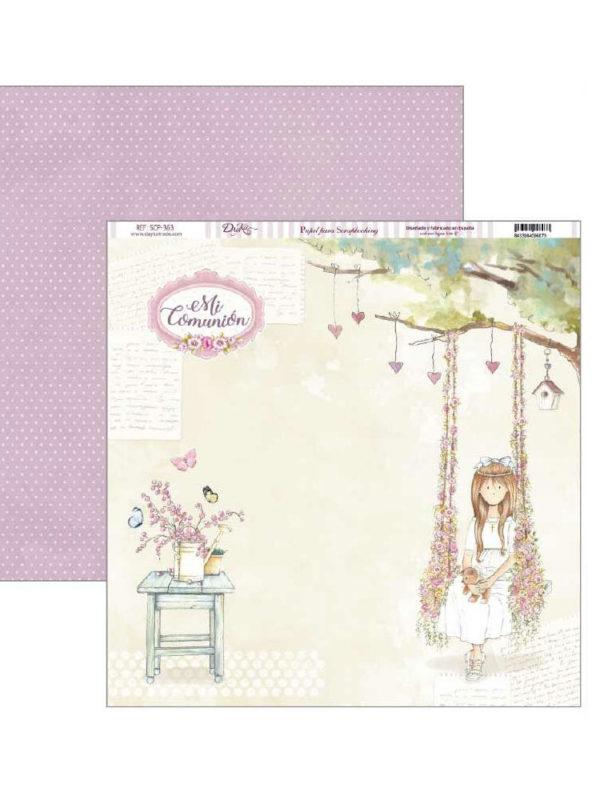 Set de papel scrapbooking especial celebracion primera comunion para niñas, de Dayka