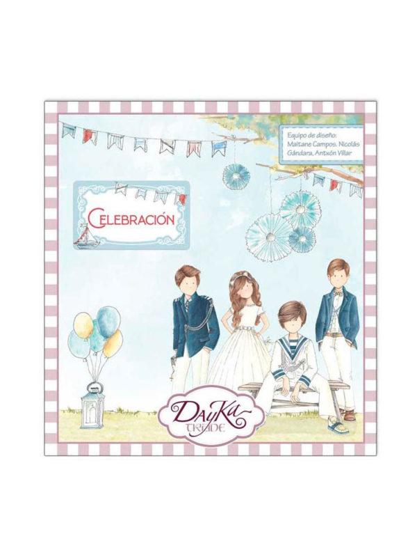 Set de papel scrapbooking especial celebracion primera comunion para niños, de Dayka