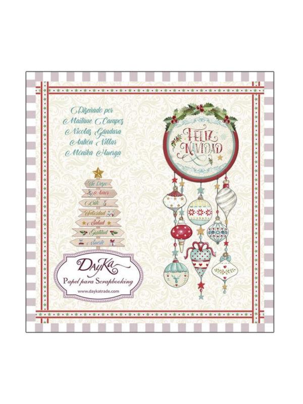 Set de papel scrapbooking especial Navidad, de Dayka