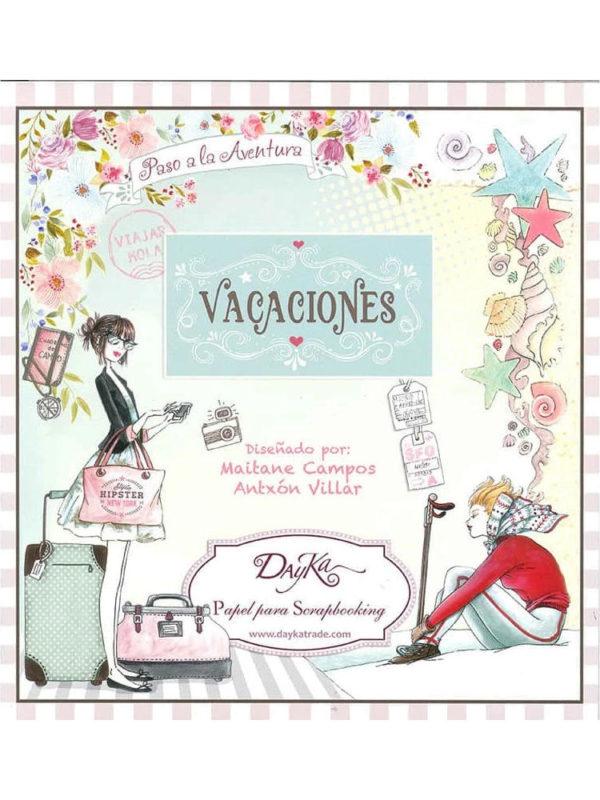 Set de papel scrapbooking Vacaciones especial verano, de Dayka