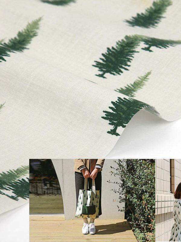 Tela de algodón de Arboles verdes, de Daily Like
