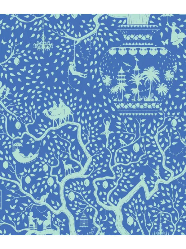 Tela Lemmon Tree Blue Harvest Collection, de Tilda Fabrics