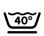 Icono de lavar a 40ª