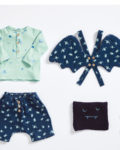 Patrón peto alas, camiseta y tricot gorro, de Katia Fabrics