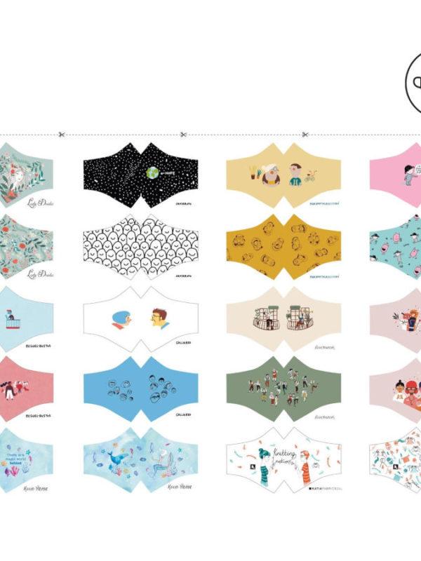 Panel para 10 mascarillas de diseño, de Katia