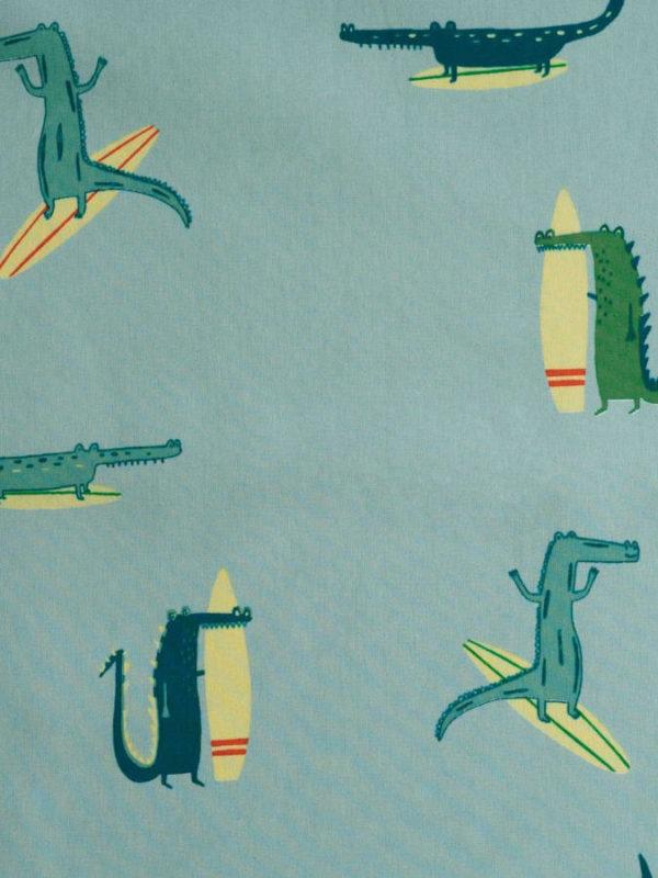 Tela waterproof de cocodrilos surferos, de Katia Fabrics