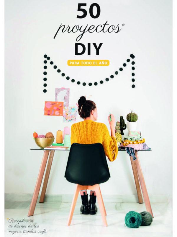 Libro 50 proyectos DYI recopilacion de mercerias, tiendas craft e influencers