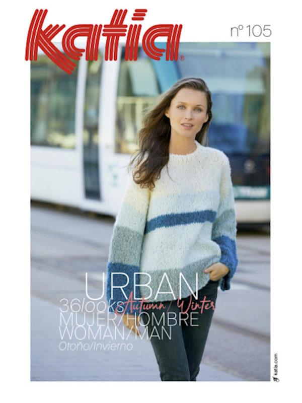 Revista de punto y crochet Urban Mujer 105, de Katia