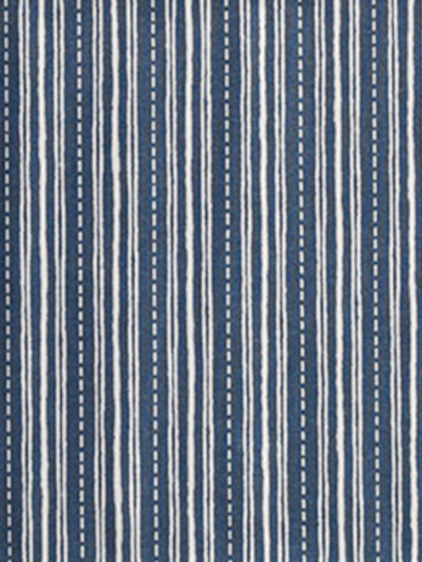 Tela de pespunte azul y blanco, de la colección Carme Salas, de BCN Fabrics