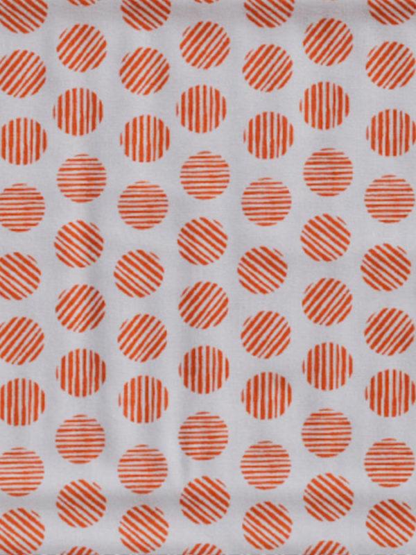Tela de topos naranjas de BCN Fabrics