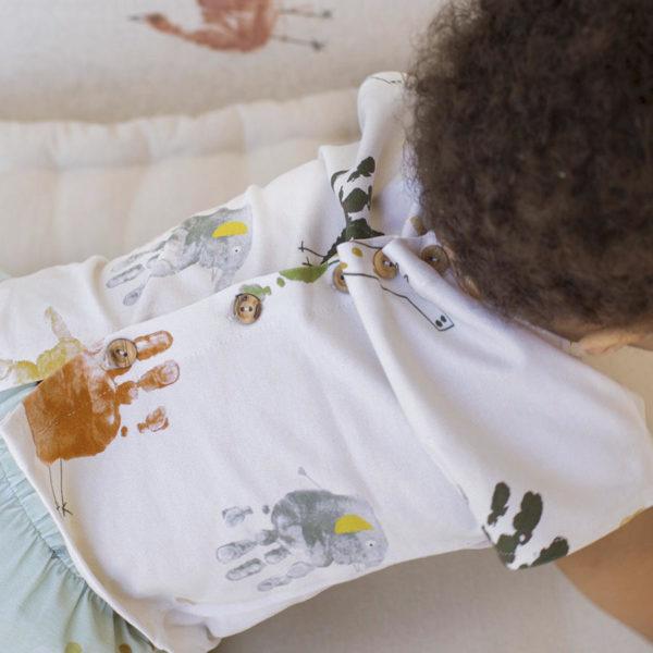 Tela Jersey Animal hand algodón y elastán, de Katia