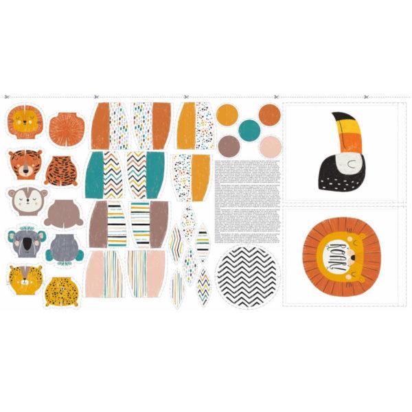 Panel de tela 100% algodón para confeccionar un juego de bolos para niños, de Katia