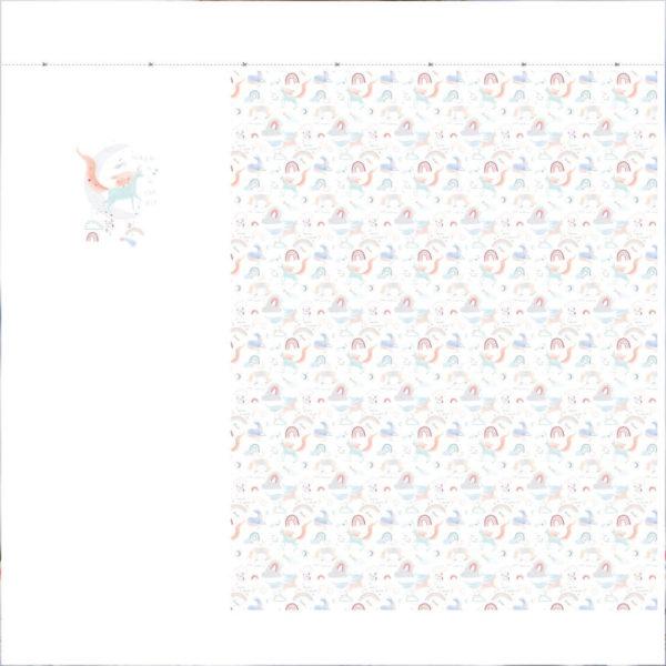Panel magic is in the air sweat de algodon y elastán, de Katia Fabrics