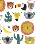 Tela popelin Jungle Heroes algodon, de Katia Fabrics