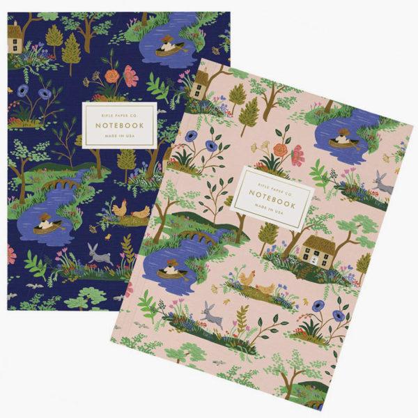 Blocks de notas Garden Toile Notebooks, de Rifle Paper