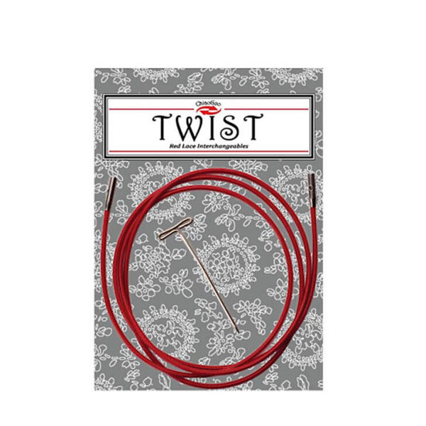 Cables TWIST Red Lace 125cm small y large, de ChiaoGoo