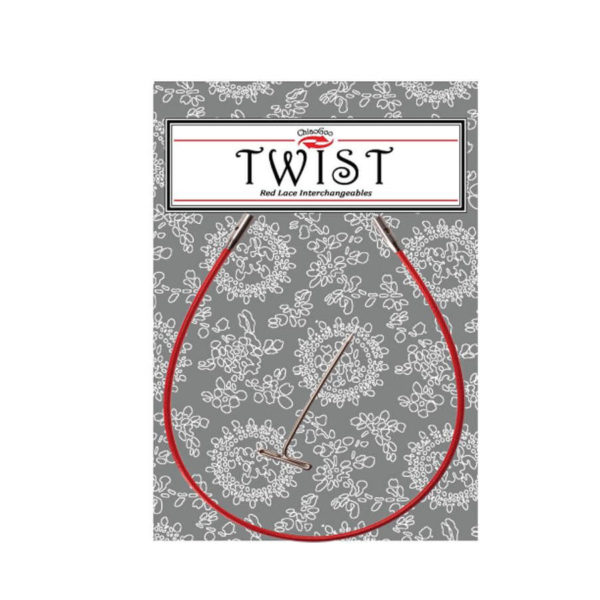Cables TWIST Red Lace 20cm mini, small y large, de ChiaoGoo