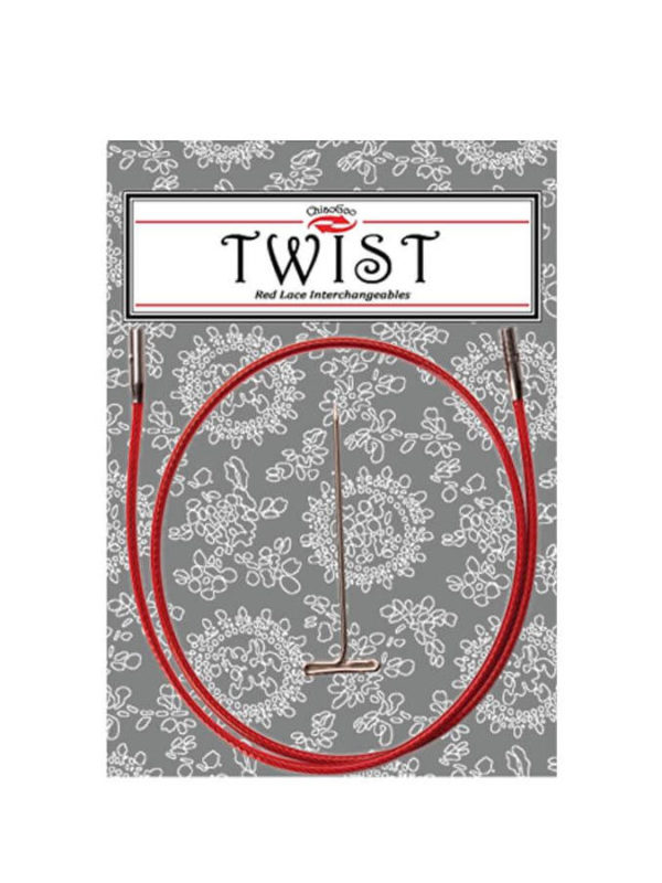 Cables TWIST Red Lace 35cm mini, small y large, de ChiaoGoo