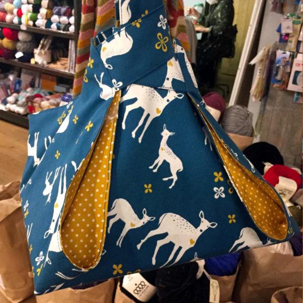 Bolsa para tartas, de loneta y tela de algodón, hecha a mano por CraftyLu