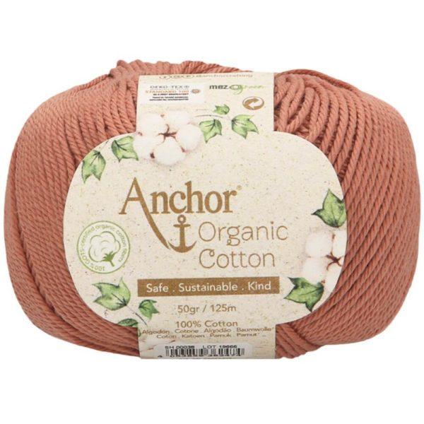 Ovillo del Color 038 de Lanas Anchor Organic Cotton, a la venta en CraftyLu