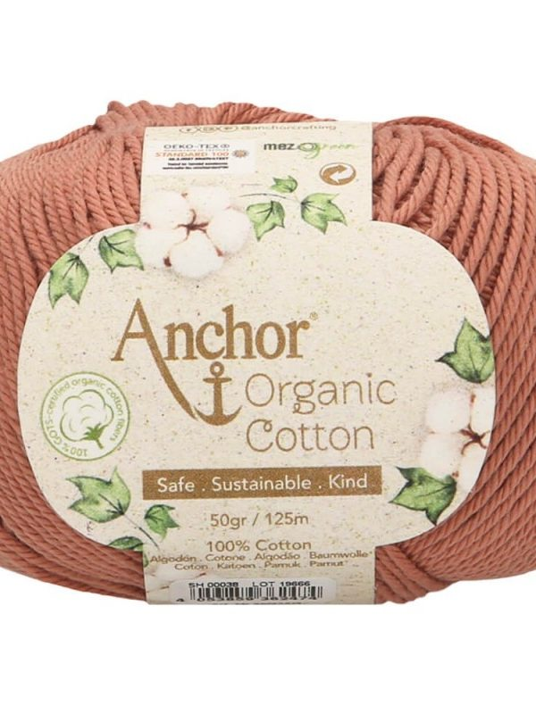 Ovillo del Color 038 de Lanas Anchor Organic Cotton, a la venta en CraftyLu