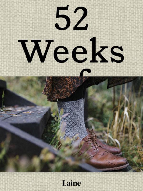 Libro 52 weeks con 52 proyectos de calceta y confección en lana, uno para cada semana del año, de Laine