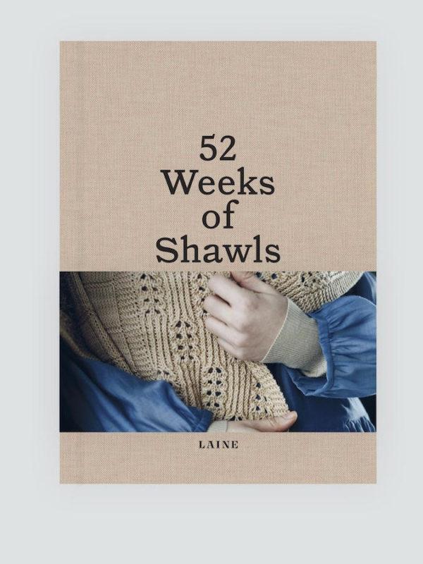 Libro 52 semanas de chales (52 weeks of shawls) de Laine